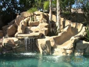 Backyard Rock Pools Brilliant 60 Swimming Pools With Waterfalls And Slide