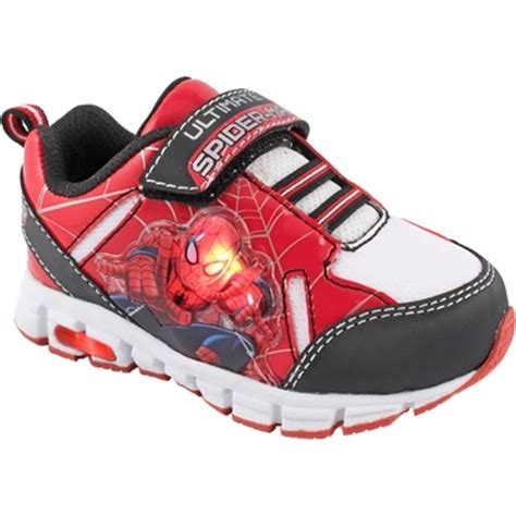 Spiderman Light Up Shoes Trimfoot Toddler Boys Marvel Spiderman Light Up Sneakers