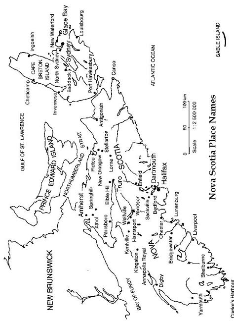 Map Of Scotia Outline by Scotia Printable Map