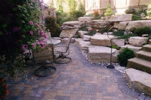 Patio And Backyard Designs Paver Patios This Backyard Patio Has Lots Of Lar