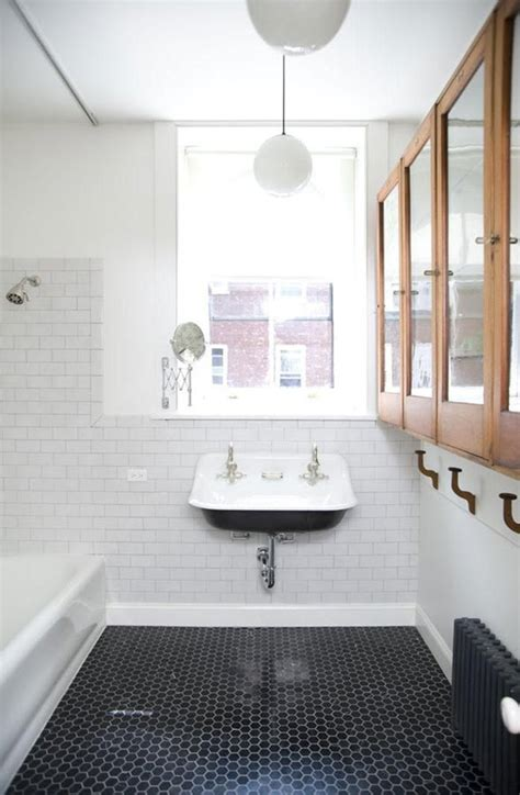 vintage black  white bathroom tile ideas  pictures