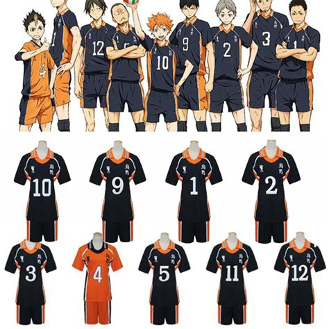 T Shirt Anime Haikyuu Karasuno Club new 9 styles anime haikyuu costumes karasuno high school club shirts and