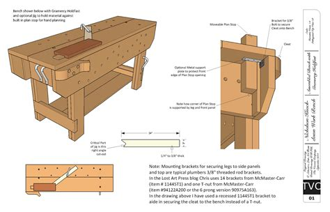 free plans for the knockdown nicholson workbench
