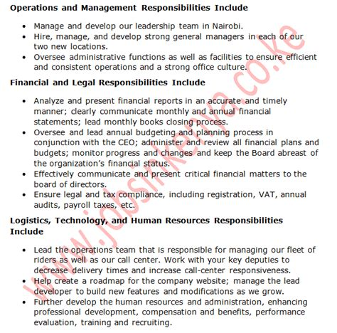 Chief Operating Officer Duties by Chief Operating Officer Description Anuvrat Info
