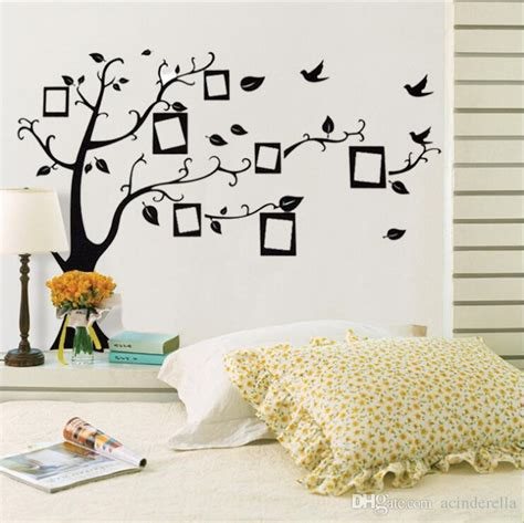 Sticker Wallpaper Dinding Family Tree large room photo frame decoration family tree wall decal sticker poster on a wall sticker tree