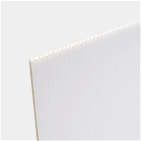 24 in x 36 in white corrugated twinwall plastic sheet