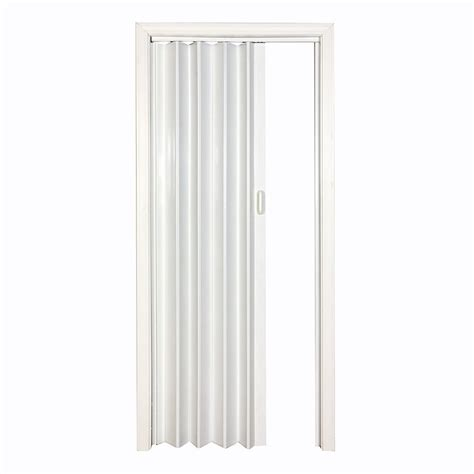 Retractable Closet Door Spectrum Vs4880h 4 1 4 In X 80 In White Vinyl Folding Closet Door Lowe S Canada