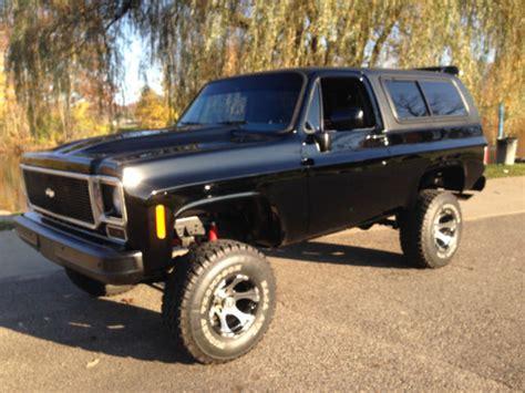 Californa Blazer k5 blazer 4x4 1977 california truck black for
