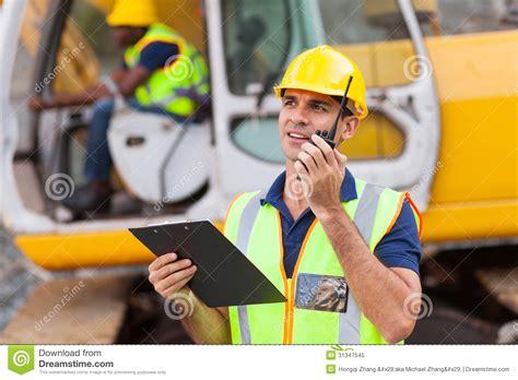Construction Foreman by Construction Foreman Walkie Talkie Royalty Free Stock Photo Image 31347545