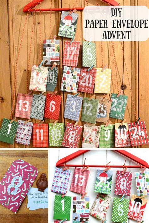 how to make an advent calendar box paper envelope advent calendar pillar box blue