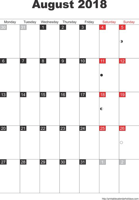 august calendar template monthly calendars archives free printable calendar 2016
