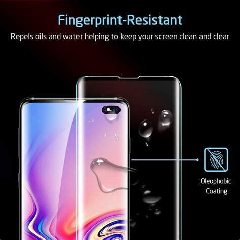 Samsung Galaxy S10 Plus Screen Protector by Galaxy S10 Plus Tempered Glass Coverage Screen Protector Esr