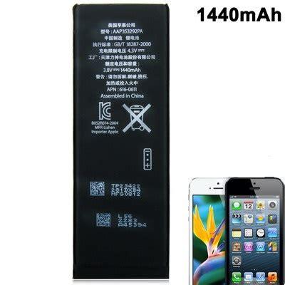 Baterai Iphone baterai original iphone 5 5s tanpa konektor 1440mah black jakartanotebook