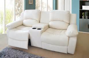 Loveseat With Console Valencia 2 Seater Bonded Leather Recliner Sofa With