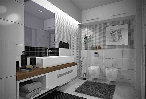 modern black and white bathroom 20 sleek ideas for modern black and white bathrooms home