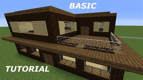 how to build a nice house in minecraft minecraft tutorial how to build a basic good looking house youtube