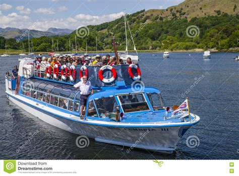 boat trip on windermere boat trip on lake windermere editorial image image of