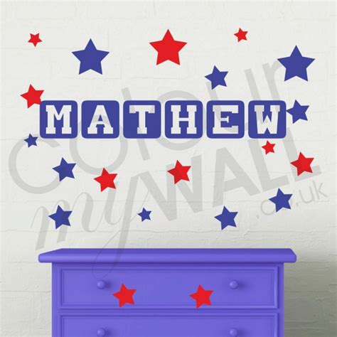 Name Wall Stickers Uk boy s room custom personalised name wall sticker