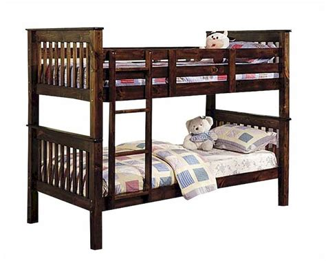 acme bunk beds acme furniture twin twin bunk bed in walnut ac02415