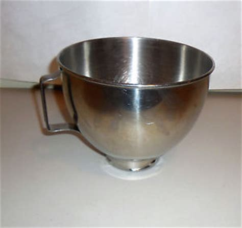 kitchenaid k45 stainless steel mixing bowl with handle ebay