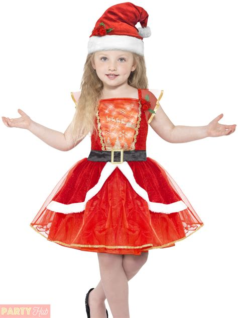 girls light up miss santa costume childs christmas fancy