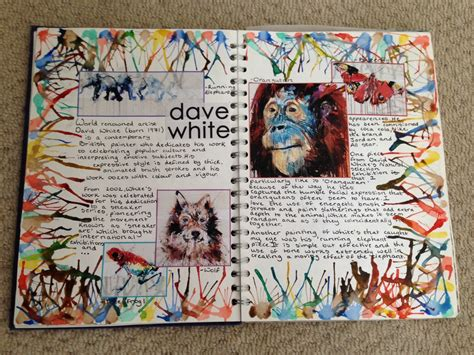 sketchbook gcse 22 10 14 gcse david white artist research page