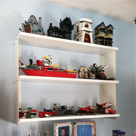 ikea shelving for lego model displays for the home