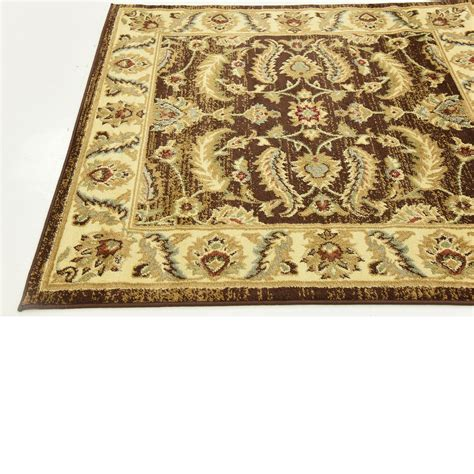 agra rugs traditional rugs style carpet brown 4 x 4 agra rug ebay