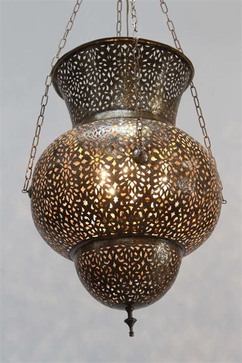 Large Moroccan Chandelier Large Fabulous Moroccan Brass Chandelier At 1stdibs