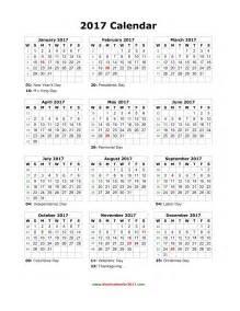 2017 Calendar Template by Blank Calendar 2017