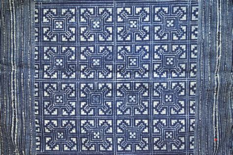 batik design vietnam batik black hmong with squares textile wild tussah