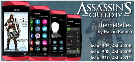 themes for nokia asha 309 mobile assassin s creed iv black flag theme for nokia asha 305