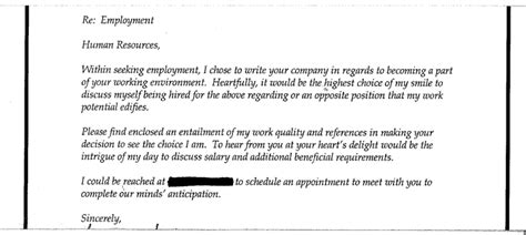 card and payments another funny covering letter