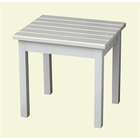White Patio Table White Patio Side Table 50etw Rta The Home Depot
