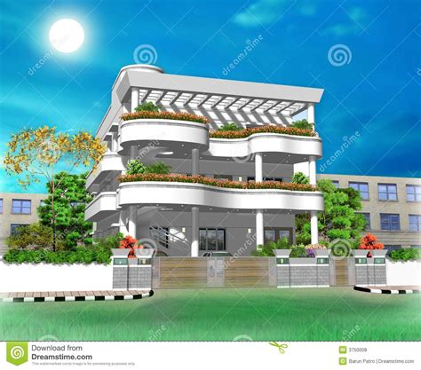 home design 3d zweiter stock 3d house illustration royalty free stock photos image