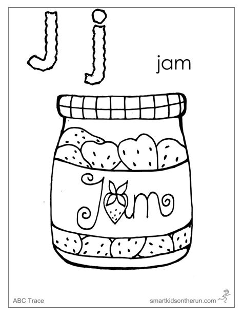 letter j coloring sheet az coloring pages