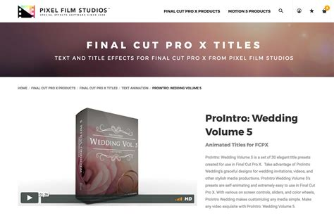 a new fcpx plugin was released called prointro wedding