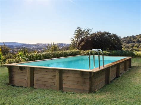 Piscine Bois Sans Liner 2272 by Piscine Bois En Kit Rectangle Quot Ta Quot 7 20 X 4 20 X 1
