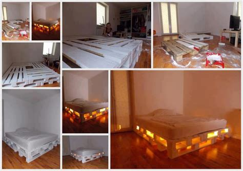 Pallet Bed Frame Diy 40 Creative Pallet Furniture Diy Ideas And Projects