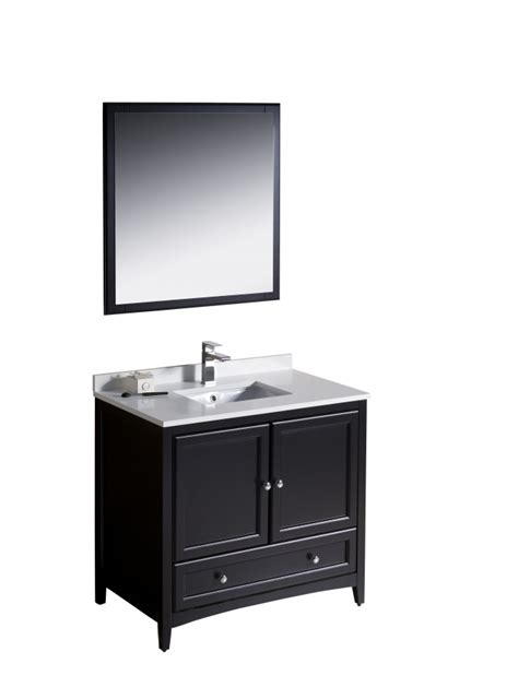 36 inch bathroom sink 36 inch single sink bathroom vanity in espresso uvfvn2036es36
