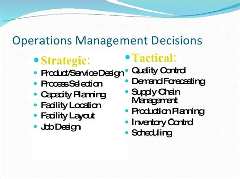 product layout operations management production operations management