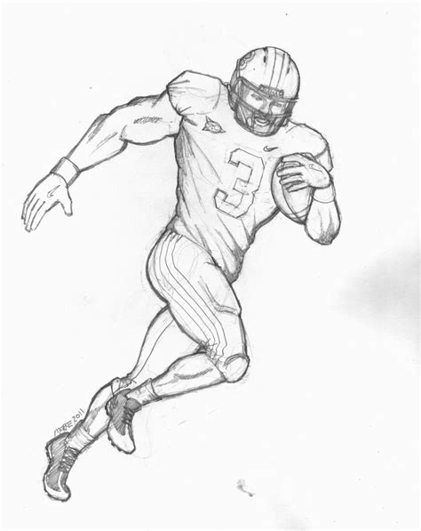 coloring page of a football player football coloring pages 12