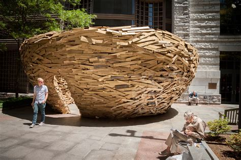 designboom nest mark reigelman builds reading nest from 10 000 palette boards