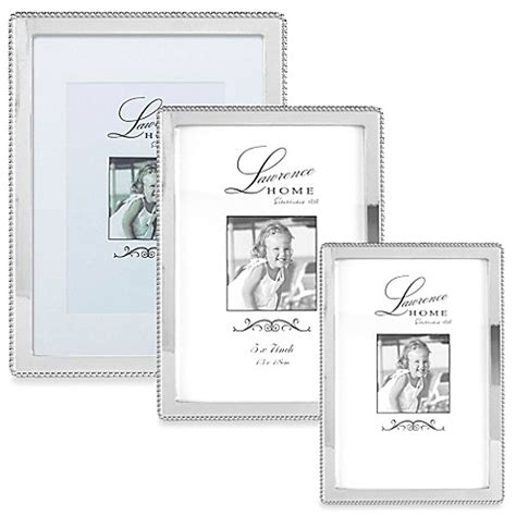 bed bath and beyond lawrence lawrence frames silver plated picture frame with beading bed bath beyond