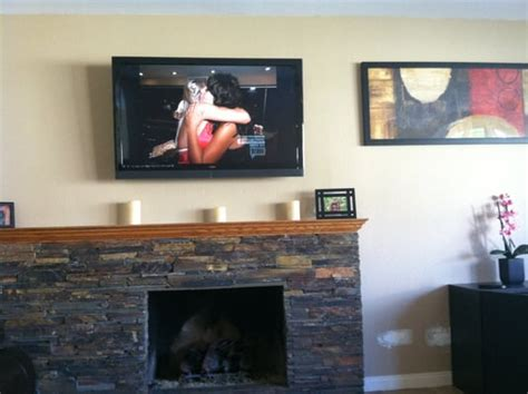 Above Fireplace Tv Mount by Fireplace Tv Mount Yelp