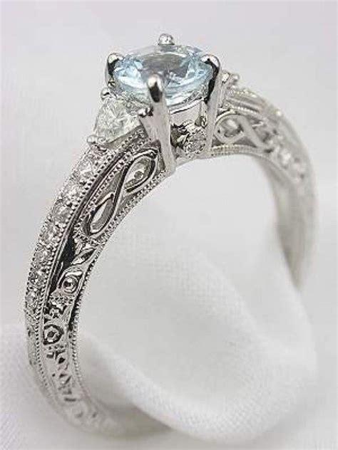 vintage aquamarine engagement rings my style