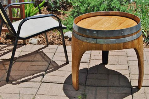 Wine Barrel Patio Table Wine Barrel Patio Table Table Designs