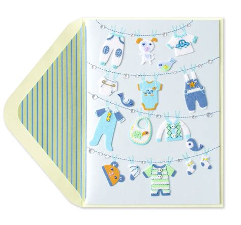 card baby clothesline new baby boy baby boy cards papyrus