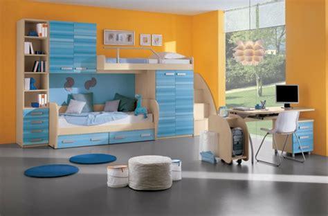 kinderzimmer blau orange kinderzimmergestaltung moderne farbideen f 252 r das