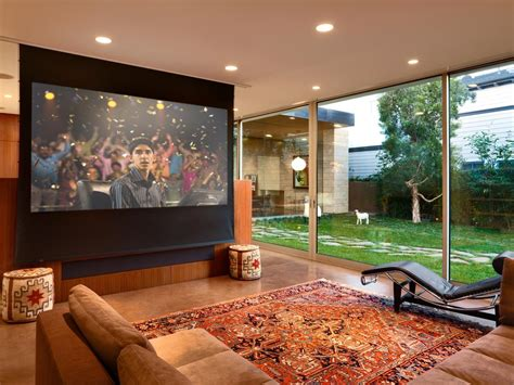 projector or tv for media room learn how to install a media room projector screen how